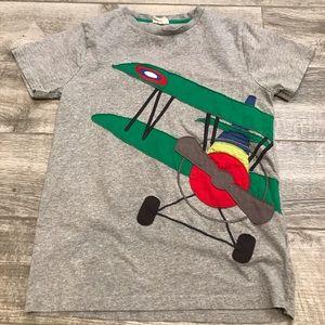 Boys Mini Boden Airplane Appliqué T-Shirt